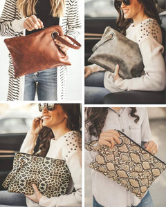 Gorgeous Clutch Bags made of Vegan Leather is a must for $28!
