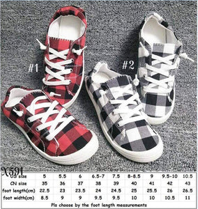 Buffalo Plaid Comfy Slip On Sneaker for only $30