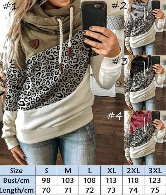 Drawstring Animal Print Tri-Color Hoodie for $28