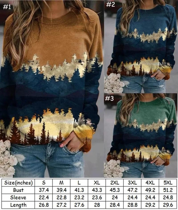 BEAUTIFUL TREES & MOUNTAIN RANGE Pullover