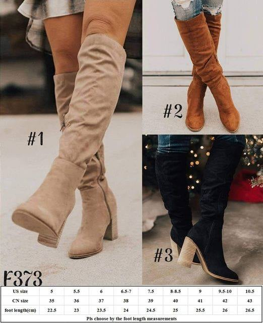 GORGEOUS KNEE HIGH SIDE ZIP BOOTS