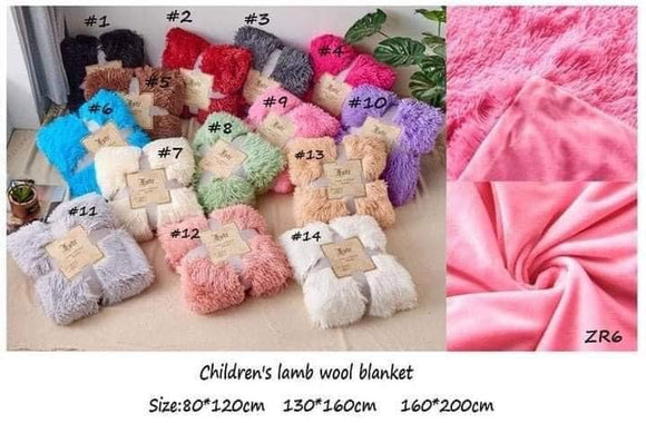 Lamb's Wool Blanket in 3 sizes-so CUDDLY! 14 AMAZING COLORS