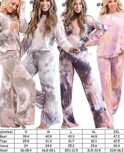 Tie Dye 2 Piece Lounge Wear