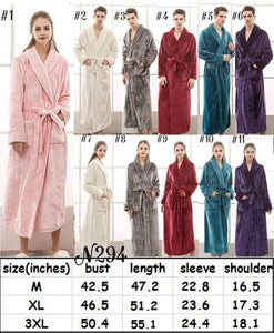 SOFT PLUSH ROBE WITH 6 COLOR CHOICES