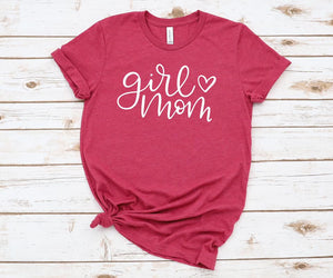 CUTE NEW GRAPHICS -GIRL MOM-Super soft Bella Tees