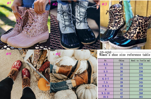 GORGEOUS lace up DUCK BOOTS in 5 colors for $38