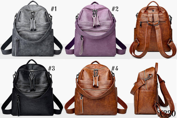 Soft PU Leather on these gorgeous Bookbags