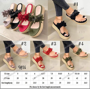 ADORABLE Floral Ladies Wedge Sandals available in 4 colors for $28