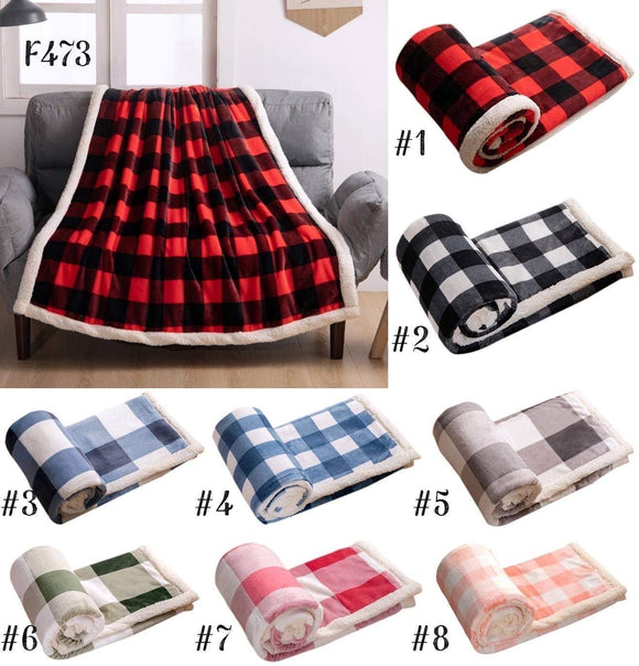 Soft and Cuddly Plaid Sherpa Blankets for $42