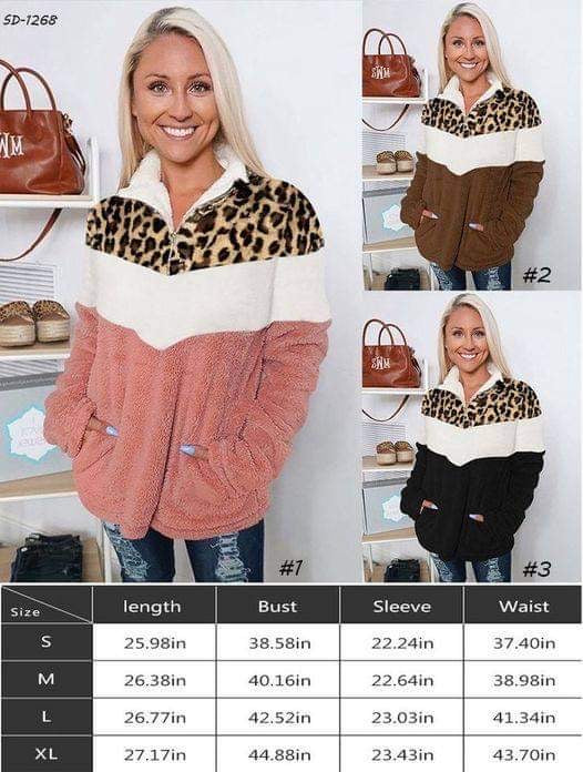 3/4 Zip Animal Print Sherpa Pullover for $32-SO CUDDLY