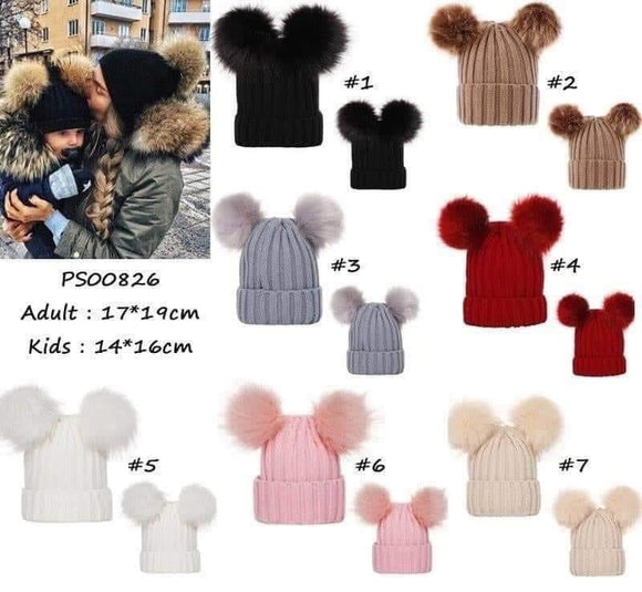 Mommy and Me Matching Pom Hat Sets for $20