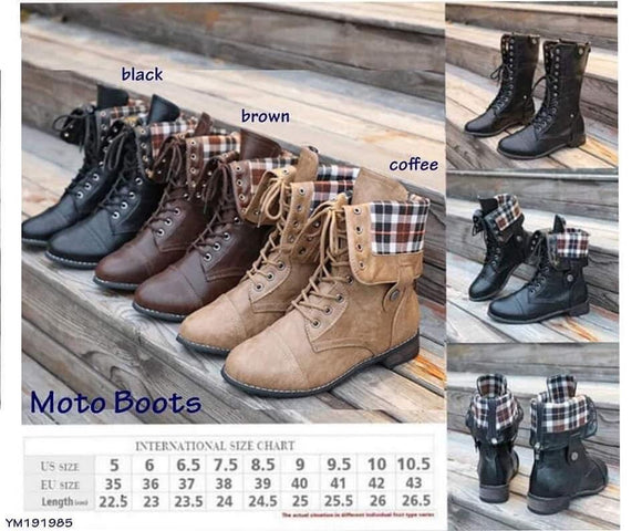NEW STYLE FOR FALL-MOTO BOOTS