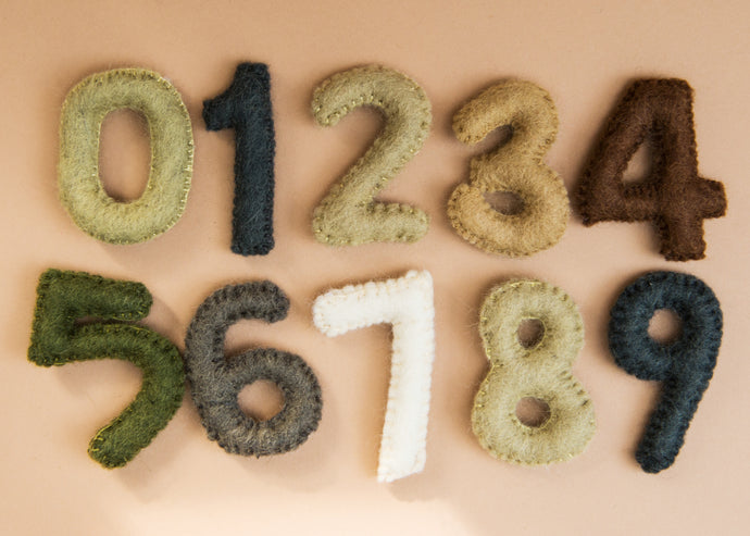 Papoose Felted Numbers Set: 0-9