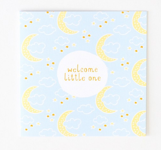 New Baby Greeting Card - 'Welcome Little One!'