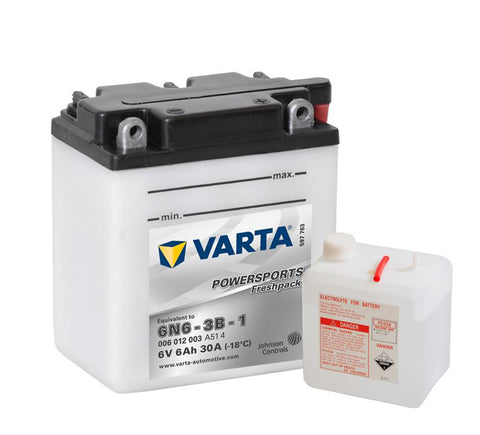 Varta Mc-batterier 6N6-3B-1