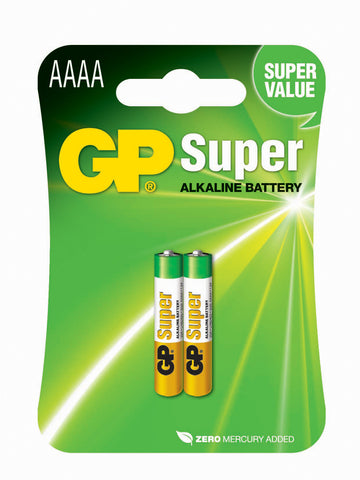 GP Super Alkaline AAAA-batteri, 25A/LR61, 2-pack