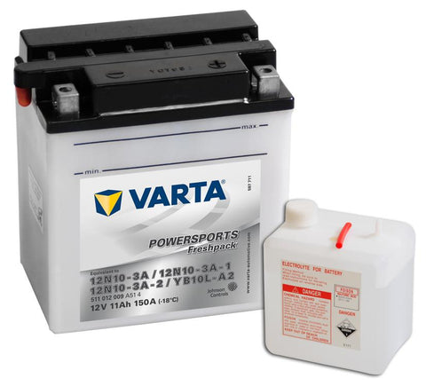 Varta Mc-batterier YB10L-A2