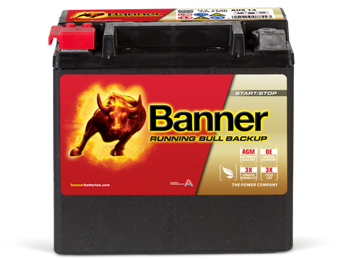Banner Running Bull – AGM BackUp Batteri