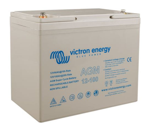 Victron Energy 12 Volt 100Ah AGM Super Cycle Batt.