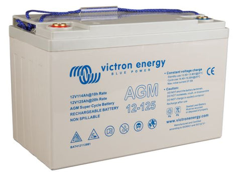 Victron Energy 12 Volt 125Ah AGM Super Cycle Batt.