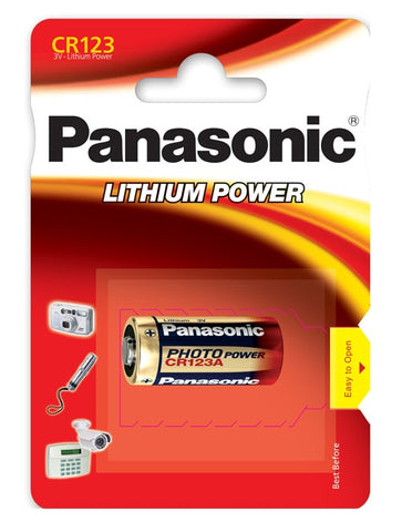 Panasonic CR123A Litium