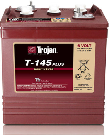 Trojan Traction T-145 260Ah 6 Volt