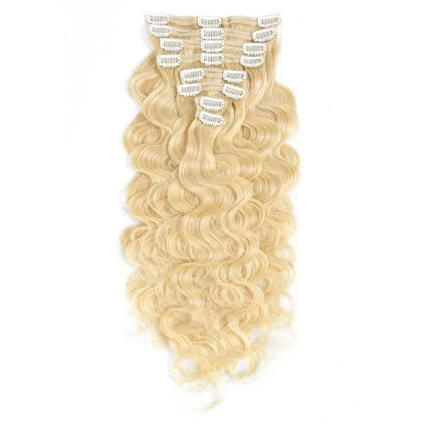 613 Blonde Clip-In Hair Extensions