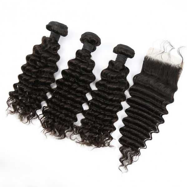 3 BUNDLES + 4X4 CLOSURE