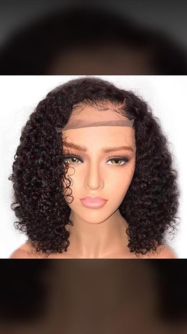 Full lace Deep Wave Side Part Bob Wig