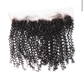 Brazilian Kinky Curly Lace Frontal 13*4