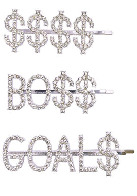 Luxury Crystal Rhinestones Hair Pins