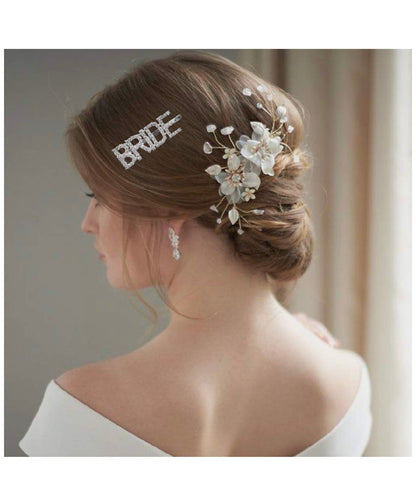 2 Bride Sparkle Hair Pins