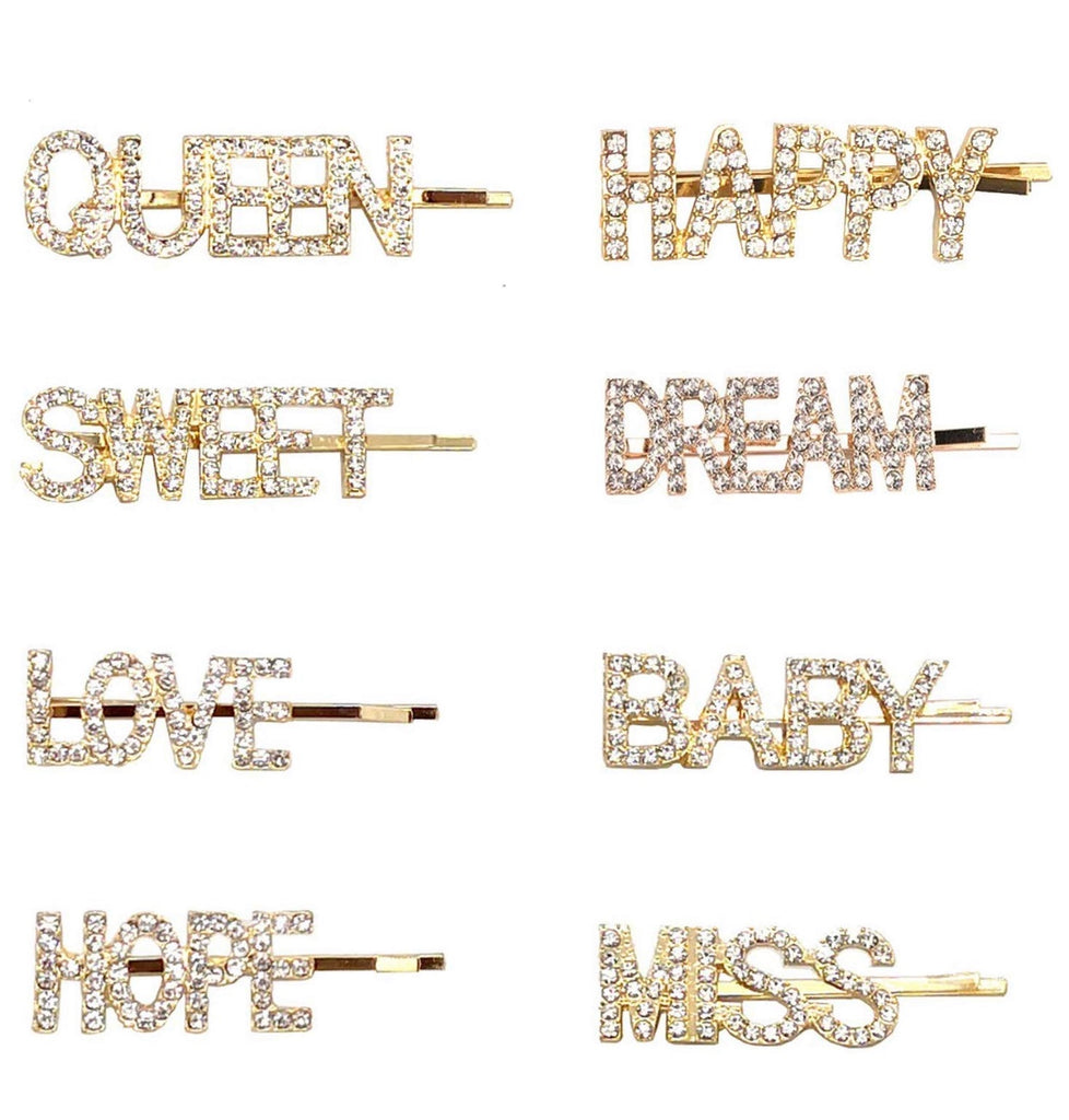 8 Pieces Sparkly Hair Pins