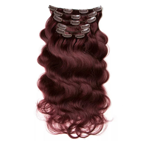 Red Wine Clip-In Hair Extensions
