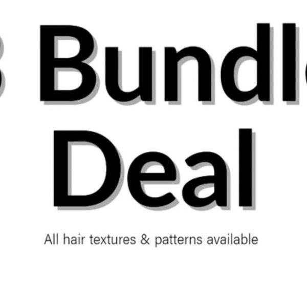3 Bundles Deals Blonde