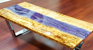 river table made with flowcast