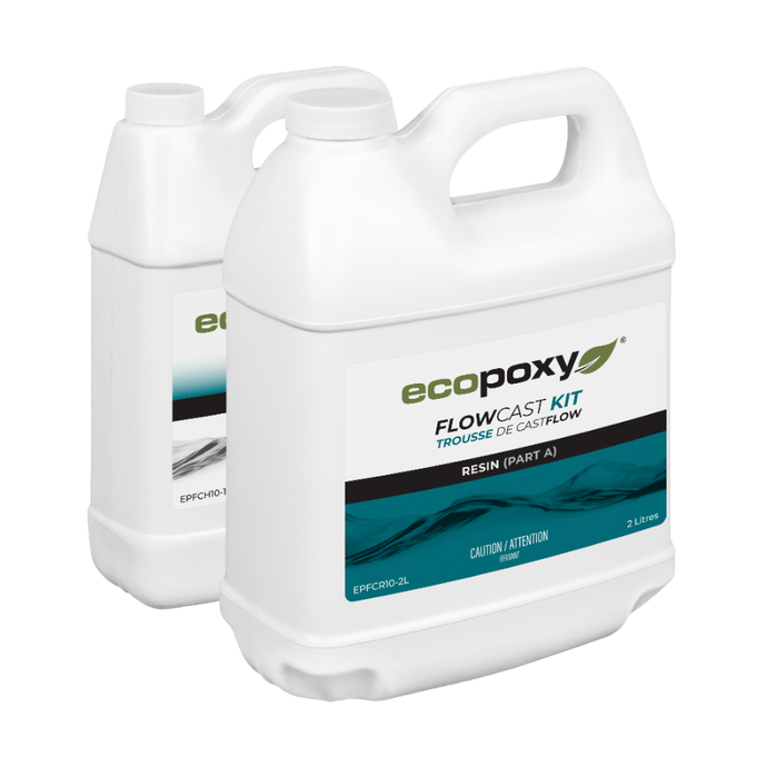 FlowCast casting resin by EcoPoxy 6 liter kit