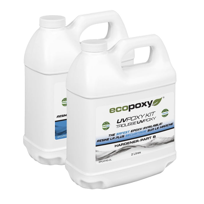 UVPoxy 4 liter kit. Part A resin and Part B hardener from Ecopoxy US