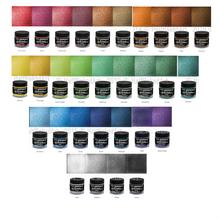 EcoPoxy US color chart. 30 metallic mica powders