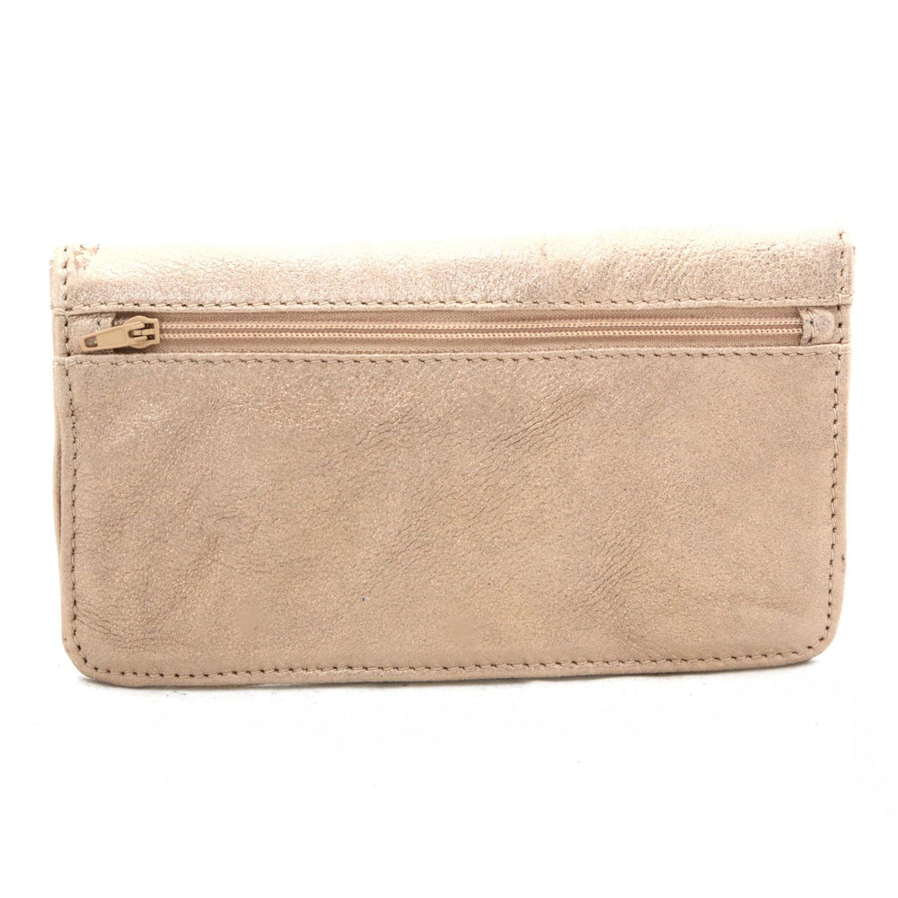Gold Leather Wallet