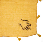 Mustard Hand Embroidered Handkerchief