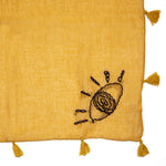 Mustard Eye Hand Embroidered Scarf