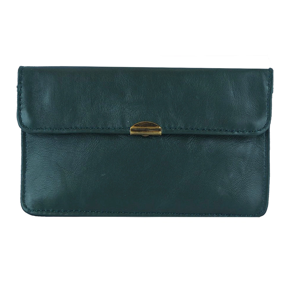 Dark Green Leather Wallet