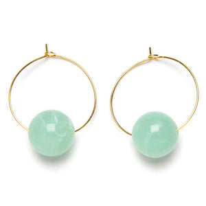Load image into Gallery viewer, Green Monette Earrings
