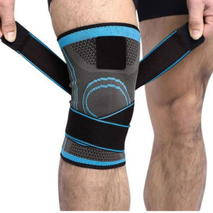 3D Knee Compression Pad - Blue / S