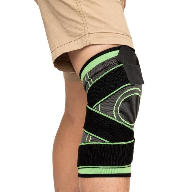 3D Knee Compression Pad - Green / S