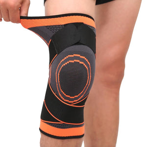 3D Knee Compression Pad - Orange / S