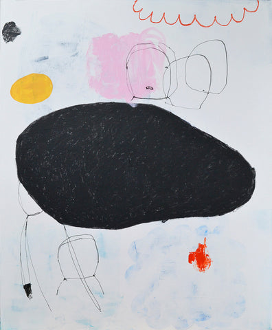 SOLD - Composition with Red Cloud