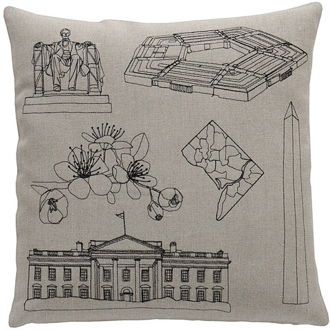 places- washington DC pillow