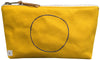 Yellow Waterproof Canvas Pouch- xo